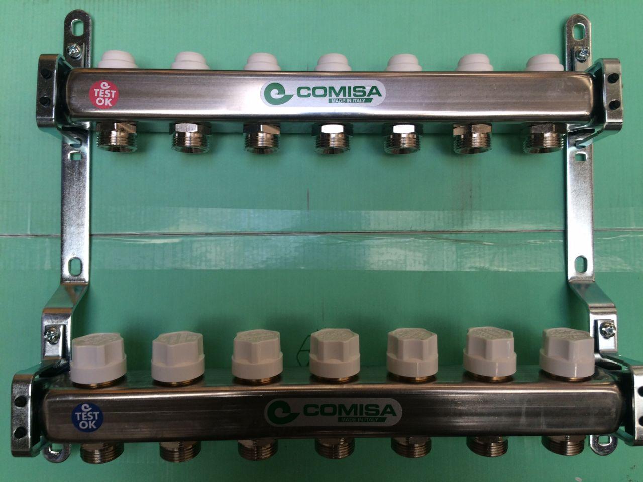 COMISA inox osztó-gyűjtő 6 körös